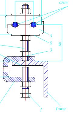 Kẹp cáp quang trên cột ADSS/OPGW